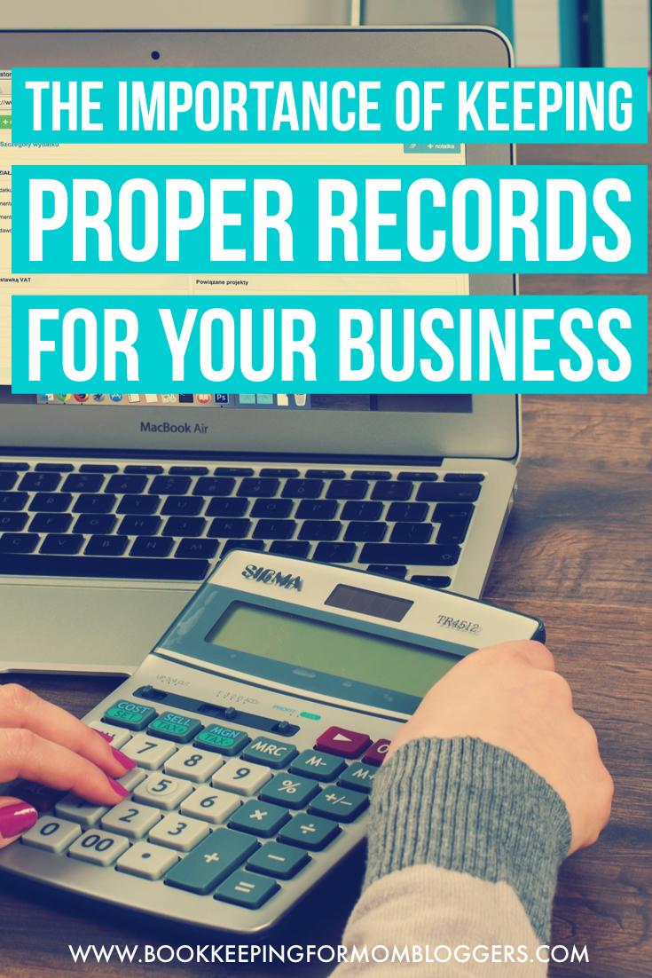 Keeping Proper Records